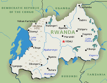 Rwanda Genocide Map Location