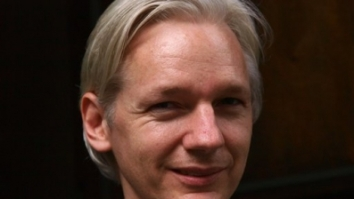 AP - Founder and editor of the WikiLeaks website, Julian Assange,