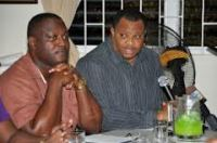 Ministers Donville Inniss and Chris Sinckler