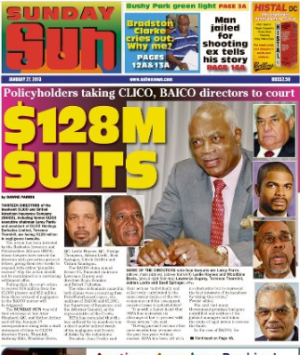 CLICO Policyholders suing, finally!   Photo credit: Nation