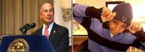 Mayor Michael Bloomberg (l) late Kimani Gray (r)