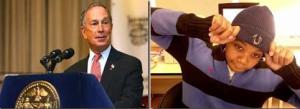Mayor Michael Bloomberg (l) late Kimani Gray (r)