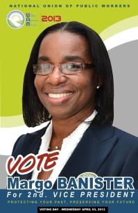 Margo Banister running for the post of 2nd Vice President