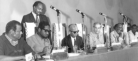 Caribbean Leaders come together in Chaguaramas to sign the treaty July 4th 1973 - CDA