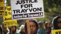 USA divided over the court decision to acquit Zimmerman - photo credit: Sky News