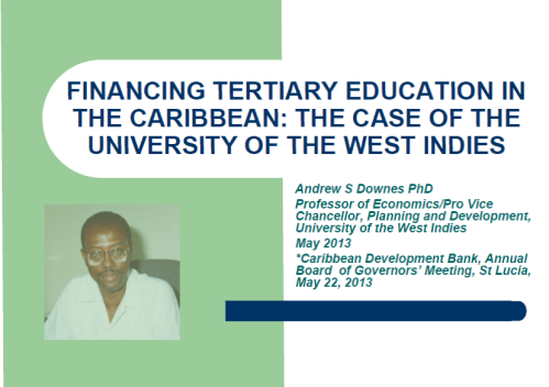 Andrew Downes is Professor of Economics and Director of the Sir Arthur Lewis Institute of Social and Economic Studies at the Cave Hill Campus of the University of the West Indies. He has degrees in economics from the Universities of the West Indies and Manchester. He is the author of several monographs and articles covering such area as labour economics, macroeconomics, development economics and applied econometrics. He is Editor-in-Chief of the Journal of Eastern Caribbean Studies. He is the author of a report for the UNDP on the Millennium Development Goals in the Caribbean