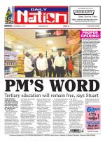 What value should we place in the word of a Prime Minister. Should we dismiss Prime Minister Stuart's promise as election campaign rhetoric? Should we dismiss the promise the late Prime Minister David Thompson made to CLICO policyholders? Are we finally willing to say to politicians, ENOUGH! Read Nation article PM's Word