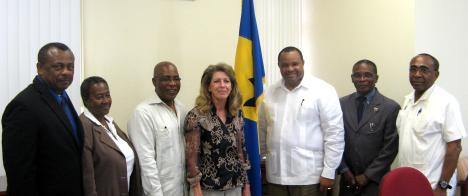 "<h6 align=""justify""><font style=""font-weight:normal;"">L-R): Edison Alleyne (Permanent Secretary in the Ministry of Environment), Margot Harvey (Chairman, Sanitation Service Authority), Dr Denis Lowe (Minister of Environment), Clare Cowan (CEO of Cahill Energy), Christopher Sinckler (Minister of Finance and Economic Affairs), Denis Kellman (Minister of Housing, Lands and Rural Development), Senator Darcy Boyce (Minister of Energy in the Office of the Prime Minister)</font> - Caribbean News</h6>"