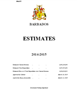 Click to review Draft Estimates 2104-2015