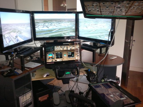 The Flight simulator which belongs to Capt Zaharie Ahmad Shah of Malaysian Airlines