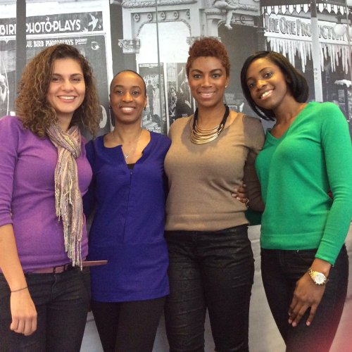 From left to right. Betty Munera, Karlyn Percil, Juliette Walcott and Vernette Eugene