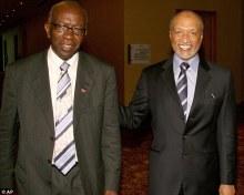 Jack Warner (l) Mohamed Bin Hammam (r)