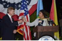 Ms. Pryia Manickchand attacks USA Ambassador Brent Hardt