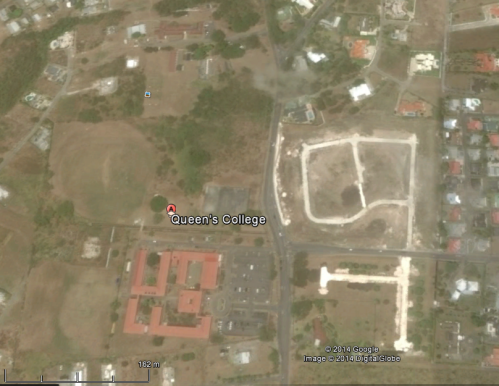 Ariel view of the Muslim Clermont Settlement