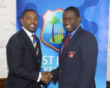 WIPA President and CEO Wavell Hinds and WICB President Dave Cameron