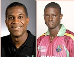 Michael Holding (l) Jason Holder (r)