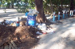 Garbage at Accra Beach