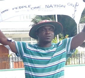 Guyanese anti-PPP government activist,  Courtney Crum-Ewing