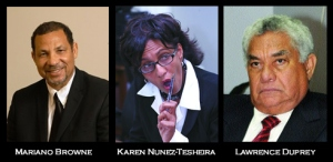 Mariano Browne, Lawrence Duprey,Karen Nunez-Tesheira