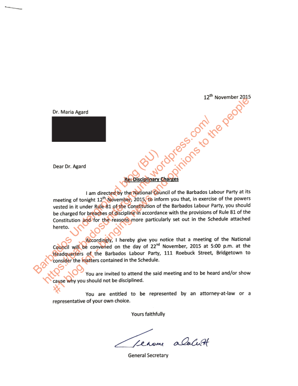 Agard_Disciplinary_letter_Redacted_Page_1
