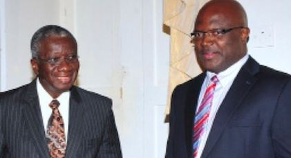 Prime Minister Fruendel Stuart and Attorney General Adriel Brathwaite