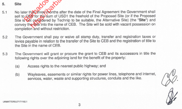 section 5, heads of term agreement.