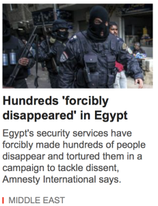 Hundreds Forcible Disappear in Middle East