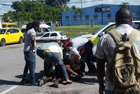 "A Barbadian man ""pounced on a man he claimed had assaulted his (the arrester's) daughter and held him in a headlock until police arrived."""