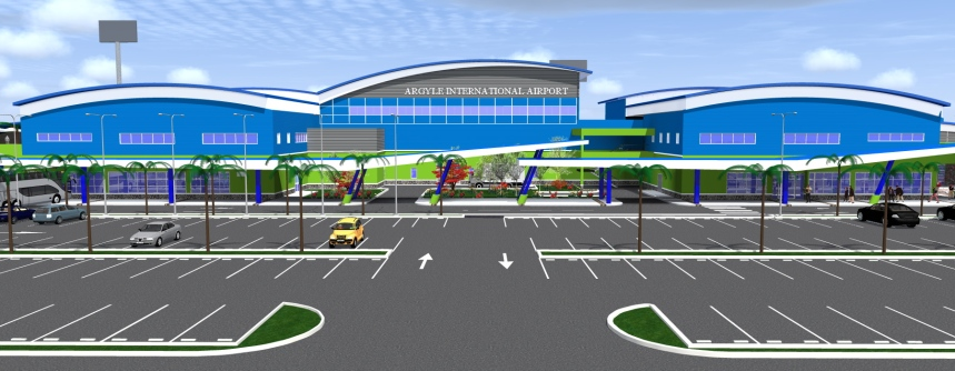 Argyle Airport in St. Vincent (Artist impression)