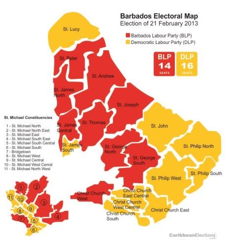 barbados-election-map-2013