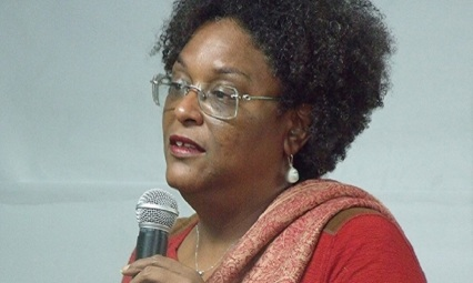 Mia Mottley, leader of the BLP